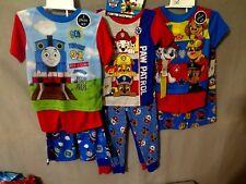 Paw Patrol 3 or 4 pc. or Thomas The Train 3 pc. Toddler Pajamas Asst. Sizes BNWT