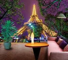 3D Eiffel Tower Light 894 Wallpaper Mural Paper Wall Print Wallpaper Murals UK