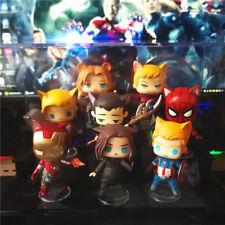 Marvel The Avengers Steve Bucky Tony Thor Loki Spider-man Hulk PVC Figure Be