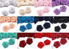 10* 50 Satin Röschen 10* 15 mm Streudeko Kartendeko Diorröschen Mini Rosen