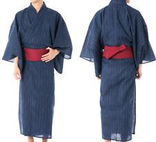 Japanisch Herren Traditionell Yukata Sommer Kimono Jacke Japan C-11 Marineblau