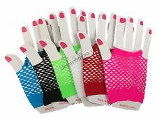 Fishnet Gloves Net Fingerless Length 70s 80s Women's Costume Party Disco Dance