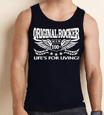 Original rocker débardeur de la vie de vie Café Racer biker rock & roll Gym Débardeur