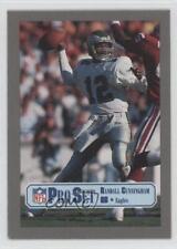 1989 Pro Set Test Designs 315.2 Randall Cunningham (Silver Border) Football Card