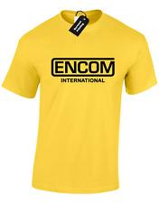 ENCOM MENS T SHIRT TRON INTERNATIONAL FLYNNS ARCADE MOVIE SCI FI GAME SPACE TEE