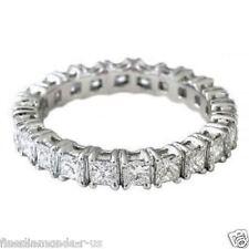 2.00ct Princess cut Diamonds Full Eternity Wedding Ring,9K White & Yellow Gold