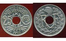 25 centimes LINDAUER 1915 centimes soulignée    SUP  (pas courant)  ( bis )