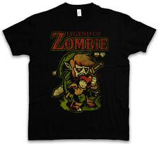 LEGEND OF ZOMBIE T-SHIRT Fun Zombie Heart Eating Brain The Game Sword Dead Zelda