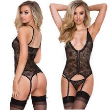 Sexy-Lingerie-Sleepwear-Lace-Women-Babydoll-Bodysuit-Nightwear-Stocking-Fish-Net