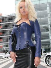 Lederkorsett Korsage Lila Schnürung Leder Größe 32 - 58  XS - XXXL