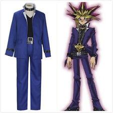 Yu-Gi-Oh!-ANB Yugi Muto Blue uniform Cosplay Costume Custom