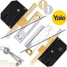 "YALE SASH/DEAD LOCKS 64mm/2.5"" Wooden Door Security Latch Catch 3 Lever Mortice"