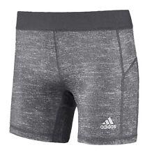 Adidas Women Tech-fit Base S/S Tight Pants Gray Training Yoga GYM Jersey D88874