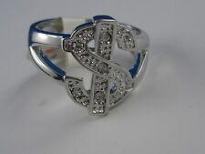 Funkelnder Ring $ Dollar Zeichen künstlicher Brillant Effekt Model Money  (B20)