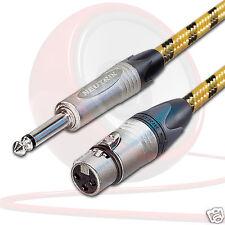 VINTAGE XLR Neutrik femmina a Mono Jack Piombo. mixer mic// nc3fxx di cavo.