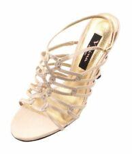 c2fb349604187 Nina Cerelia Womens Gold Royal Satin Dress Heel Sandals
