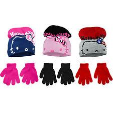 Bonnet et Gants enfant HELLO KITTY 3 Couleurs Dispo !!! A050