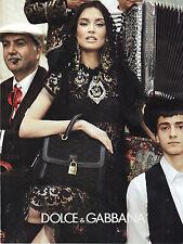 PUBLICITE ADVERTISING  2012     DOLCE & GABBANA  haute couture