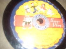 78RPM Cricket C25 1953 Pickwick, Best Liked Kiddie Songs, Cinderella V-