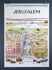 """""""Jerusalem"""" Israel J. Staber after Steinberg Poster New Yorker Style"""