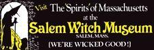 Salem Witch Museum     1970's style   Bumper Sticker