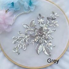 24 Colours Beaded Lace Applique 3D Embroidery DIY Wedding Dress Crafts Trim 1PC