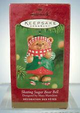2001 Skating Sugar Bear Bell Hallmark Ornament