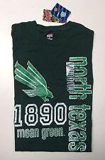 NCAA North Texas Mean Green Junior Ladies Collegiate Printed Green Tee shirt NWT