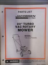 "Homelite Parts List Manual 20"" Turbo Rotary Mower T20-2"