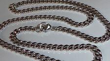 Men Necklace Real Silver Chain Curb Chain 925 Silver Rhodium-plated Curb Chain