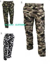 Para Hombre Camo Woodland camouflauge Ejército Combate Cargo Pantalones Pantalones Impreso