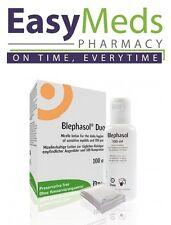 Blephasol Duo: 100ml Blephasol & 100 cotton pads: Treatment of Blepharitis