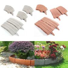 10/20/30 piezas Mini Valla para jardín Bordura de plástica Diseño de piedra