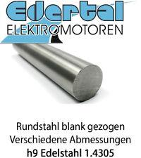 Edelstahl Rundstahl VA blank gezogen 1.4305 Blankstahl h9 Rundmaterial bis 150cm