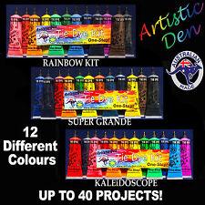 Artistic Den Tie Dye 12 x Colour Kit - Bulk Tye Dye Set-Dyes up to 40 Projects -
