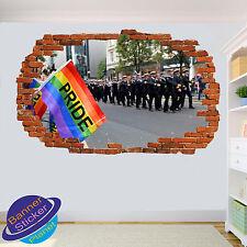 Gay Lesbian Pride LGBT Flag Smashed Autocollant Mural Art Chambre Décoration Autocollant Murale ZU5