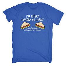 Hambre o caliente me hace un sándwich para hombres Camiseta Camiseta Regalo de Cumpleaños Travieso