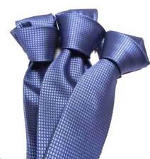 CRAVATTA seta tinta unita azzurro carta da zucchero scuro GALA per uomo AZZURRA