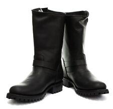 Grinders Stylish Mens Real Leather Classic Biker Boots Vintage Designer Look