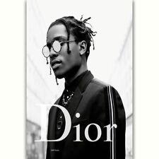 57753 ASAP ROCKY Rap Hip Hop Music Star Dior Fashion Wall Print Poster AU