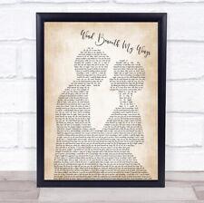 Wind Beneath My Wings Song Lyric Man Lady Bride Groom Wedding Print