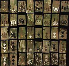 Pair of Multicam Rank Slides Multi Listing Ivory Black Bronze Crye MTP Slides