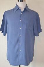 Cremieux - Man's Sun Washed Silk Linen Short Sleeve Camp Shirt $79.50