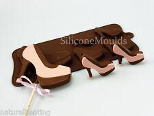 4 +1 Tacón Zapatos Stilettos Chocolate De Silicona Torta Lolly Molde Candy Molde