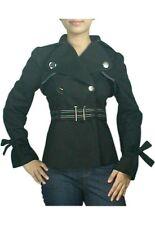 CST Rockabilly Punk Jacke Uniform Gothic Military mit Gürtel 34/36