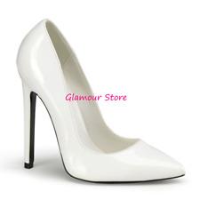 Sexy DECOLTE' BIANCHE tacco 13 dal 35 al 44 scarpe donna fashion GLAMOUR
