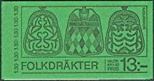 SWEDEN (H318) Scott 1309a 1.30kr Folk Costumes Booklet