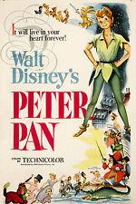 REPRO AFFICHE CINEMA PETER PAN DESSIN ANIME 1953 SUR PAPIER 310 OU 190 GRS