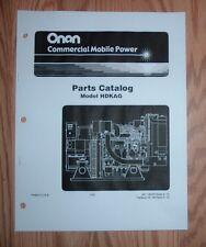 ONAN HDKAG SPECS A- E GENERATOR PARTS CATALOG MANUAL 981-0252C