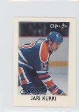 1987-88 O-Pee-Chee Leaders Mini #21 Jari Kurri Edmonton Oilers Hockey Card